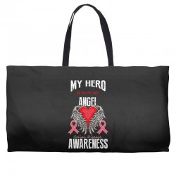 my hero is now my angel celiac disease awareness Weekender Totes | Artistshot
