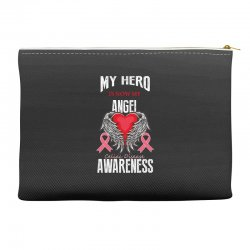 my hero is now my angel celiac disease awareness Accessory Pouches | Artistshot