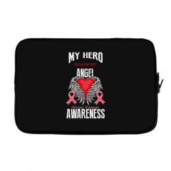 my hero is now my angel celiac disease awareness Laptop sleeve | Artistshot