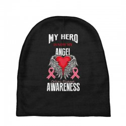 my hero is now my angel celiac disease awareness Baby Beanies | Artistshot