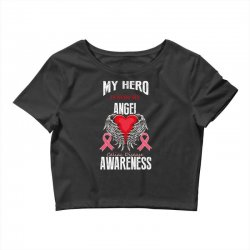 my hero is now my angel celiac disease awareness Crop Top | Artistshot