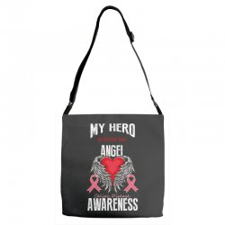 my hero is now my angel celiac disease awareness Adjustable Strap Totes | Artistshot