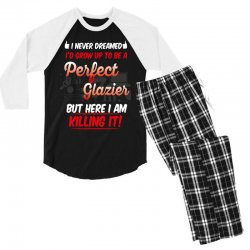 i never dreamed i'd grow up to be a perfect glazies but here i am kill Men's 3/4 Sleeve Pajama Set | Artistshot