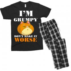i'm grumpy don't make it worse Men's T-shirt Pajama Set | Artistshot