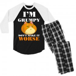 i'm grumpy don't make it worse Men's 3/4 Sleeve Pajama Set | Artistshot