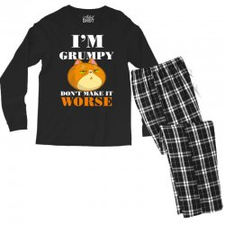 i'm grumpy don't make it worse Men's Long Sleeve Pajama Set | Artistshot