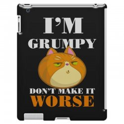 i'm grumpy don't make it worse iPad 3 and 4 Case | Artistshot