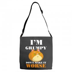 i'm grumpy don't make it worse Adjustable Strap Totes | Artistshot