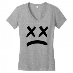 lil peep sad face Women's V-Neck T-Shirt | Artistshot