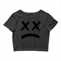 lil peep sad face Crop Top | Artistshot