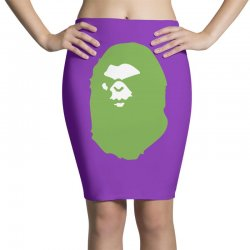 a bathing ape lime Pencil Skirts | Artistshot