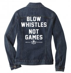 blow whistles Ladies Denim Jacket | Artistshot