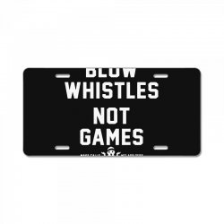blow whistles License Plate | Artistshot