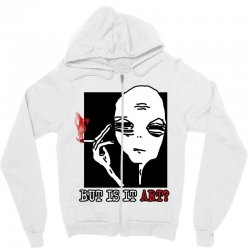 the alien believe sarcastic Zipper Hoodie | Artistshot