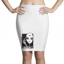 the alien believe sarcastic Pencil Skirts | Artistshot