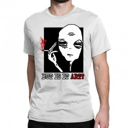 the alien believe sarcastic Classic T-shirt | Artistshot