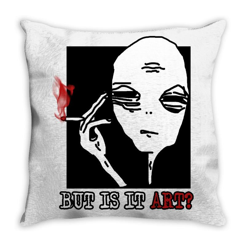 The Alien Believe Sarcastic Throw Pillow | Artistshot