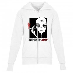 the alien believe sarcastic Youth Zipper Hoodie | Artistshot