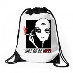 the alien believe sarcastic Drawstring Bags | Artistshot