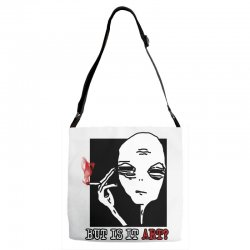 the alien believe sarcastic Adjustable Strap Totes | Artistshot
