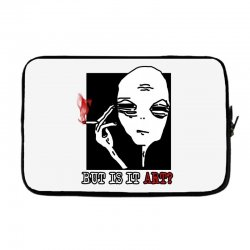 the alien believe sarcastic Laptop sleeve | Artistshot