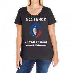 the alliance of american 2019 Ladies Curvy T-Shirt | Artistshot
