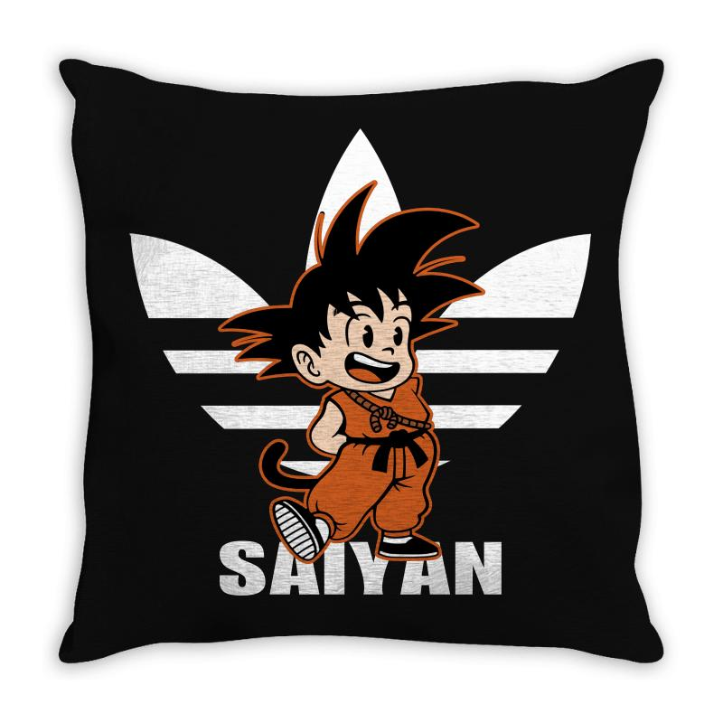 Saiyan Goku Parody Throw Pillow | Artistshot