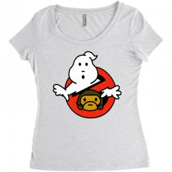 ghostbusters and bape Women's Triblend Scoop T-shirt   Artistshot