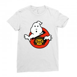 ghostbusters and bape Ladies Fitted T-Shirt   Artistshot