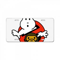 ghostbusters and bape License Plate | Artistshot