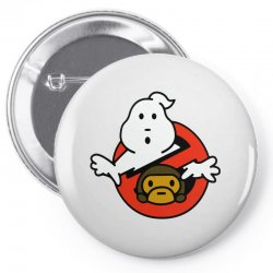 ghostbusters and bape Pin-back button   Artistshot