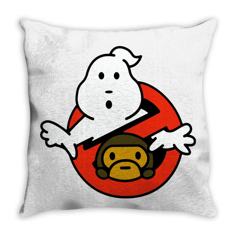 Ghostbusters And Bape Throw Pillow | Artistshot