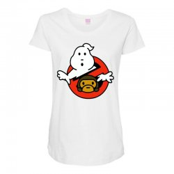 ghostbusters and bape Maternity Scoop Neck T-shirt   Artistshot
