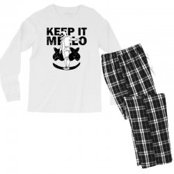 funny style keep it marshmello Men's Long Sleeve Pajama Set | Artistshot