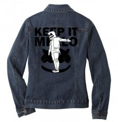 funny style keep it marshmello Ladies Denim Jacket | Artistshot