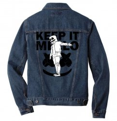 funny style keep it marshmello Men Denim Jacket | Artistshot