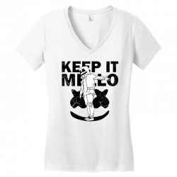 funny style keep it marshmello Women's V-Neck T-Shirt | Artistshot