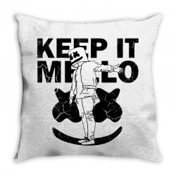 funny style keep it marshmello Throw Pillow | Artistshot