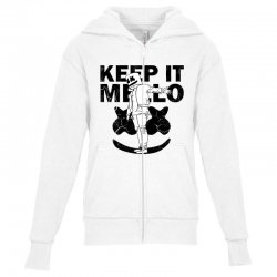 funny style keep it marshmello Youth Zipper Hoodie | Artistshot