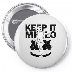 funny style keep it marshmello Pin-back button | Artistshot