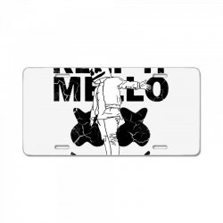 funny style keep it marshmello License Plate | Artistshot