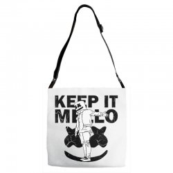 funny style keep it marshmello Adjustable Strap Totes | Artistshot