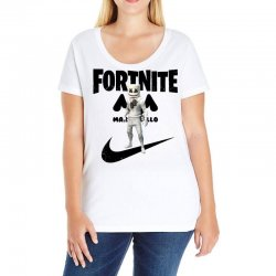 fortnite   marshmello  just play it Ladies Curvy T-Shirt | Artistshot