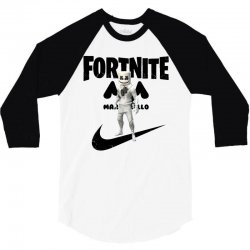fortnite   marshmello  just play it 3/4 Sleeve Shirt | Artistshot