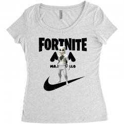 fortnite   marshmello  just play it Women's Triblend Scoop T-shirt | Artistshot