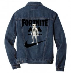 fortnite   marshmello  just play it Men Denim Jacket | Artistshot