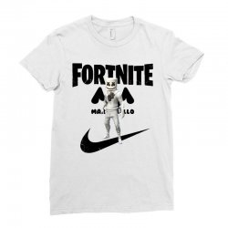 fortnite   marshmello  just play it Ladies Fitted T-Shirt | Artistshot