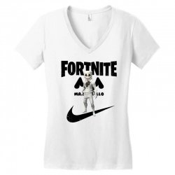 fortnite   marshmello  just play it Women's V-Neck T-Shirt | Artistshot
