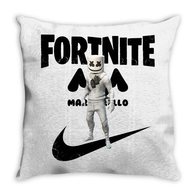 Fortnite   Marshmello  Just Play It Throw Pillow | Artistshot