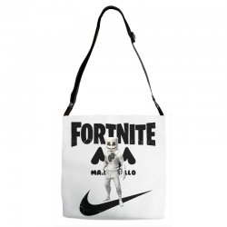 fortnite   marshmello  just play it Adjustable Strap Totes | Artistshot
